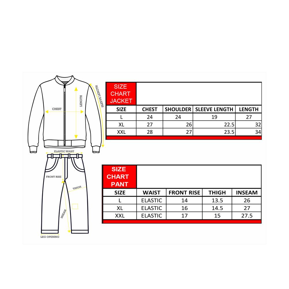 Rainwear Hornet Size Chart